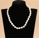 10-11mm米形白珍珠项链