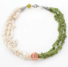 白贝壳橄榄石项链