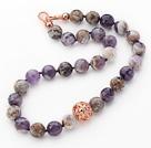 雪花紫水晶项链 简约单层款
