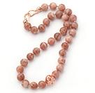 刻面太阳石项链 简约单层圆珠款