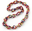 彩色锁链式松石项链