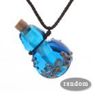 多彩琉璃香水瓶项链 颜色随机 吊坠款