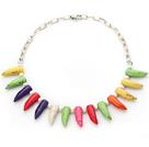 珍珠彩松石项链
