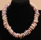 紫色再生珍珠项链