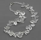 三七孔白玻璃水晶项链