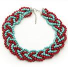 珊瑚绿松石项链