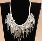 白水晶白玛瑙晚礼服项链