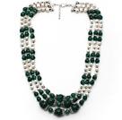 绿玛瑙 白珍珠项链 多层多圈款式 可调节