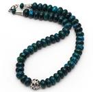 凤凰石项链配合金扣镂空圆珠 简约单层叠珠款