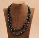 7-8mm深绿色珍珠长款项链