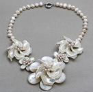 白珍珠 马蹄螺 贝壳项链