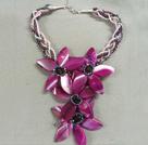 水晶玛瑙花朵项链