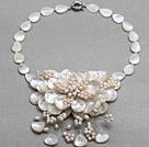 珍珠 贝壳 花朵项链
