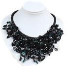 黑珍珠黑水晶项链