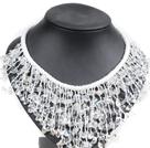 白水晶绳结项链