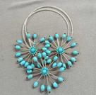 水晶玛瑙松石项链