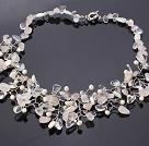 珍珠 水晶 贝壳 粉晶项链 编花款