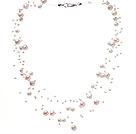 天然白色梦幻珍珠项链 多层满天星款