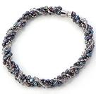 珍珠水晶项链 配磁力扣 多股扭扭款