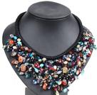 彩色水晶玛瑙绳结项链