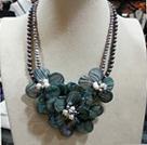 珍珠 贝壳花项链 配合金扣
