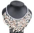 珍珠玉料水晶项链
