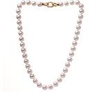9.5-10mm A级天然白珍珠项链 简约单层珠链款