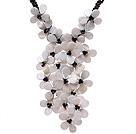 黑玛瑙 水晶 贝壳花项链