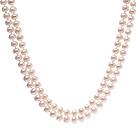 9-10mm 天然白珍珠项链 130cm长款