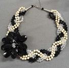 白松石水晶项链