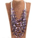 多层紫水晶项链