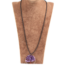 紫晶生命树金属珠链长款项链