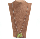 橄榄石生命树金属珠链长款项链