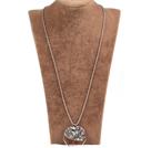 闪光石生命树金属珠链长款项链