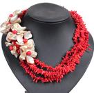 珊瑚贝壳花项链