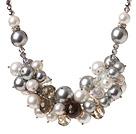 贝壳珠 人造水晶项链