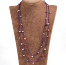 多宝石绳结项链(可做手链)