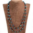 蓝松石绳结项链(可做手链)