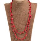 珊瑚绳结项链(可做手链)