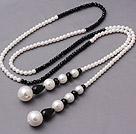 人造水晶 贝壳珠项链