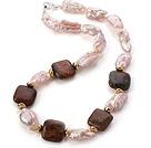 异形珍珠 绿欧宝项链