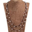 白水晶绳结项链(可做手链)