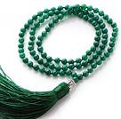 绿玛瑙手链 项链 两用链 多层缠绕弹力线 流苏款