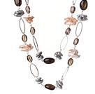 琵琶珍珠茶晶项链 120cm长款毛衣链