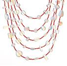 蛋白水晶项链 多层系列 五层款