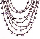紫水晶项链 多层款