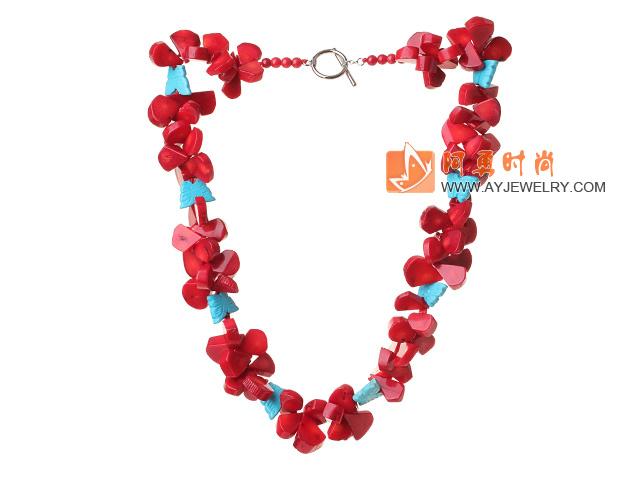 珊瑚松石项链 唯美款