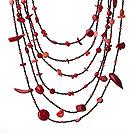 异形珊瑚项链 多层系列六层款