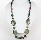 中长款项链 印度玛瑙绿发晶项链
