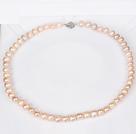 8-9mm天然粉色珍珠项链